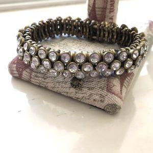 🔥JCrew Tri-layered Crystal Stretch Bracelet 🔥